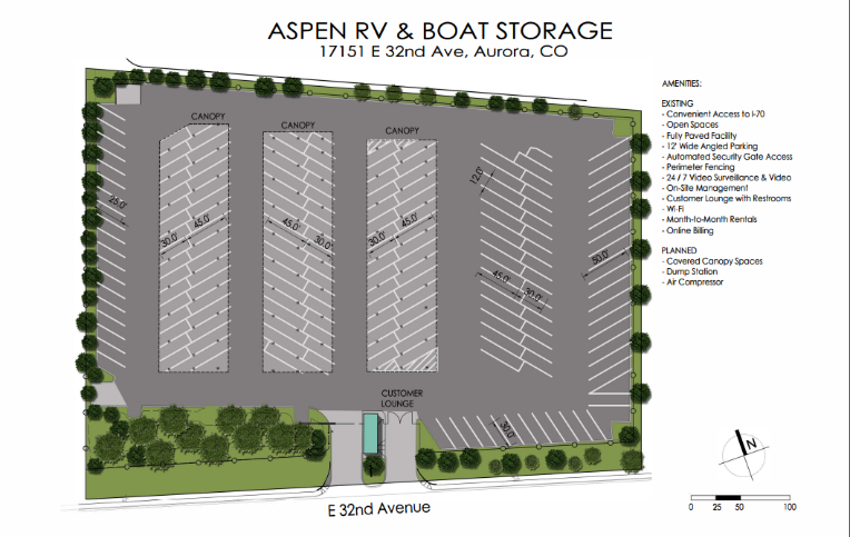 Aspen RV and Boat Site Plan